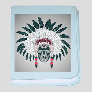 Indian Skull baby blanket