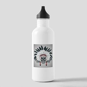 Indian Skull Stainless Water Bottle 1.0L