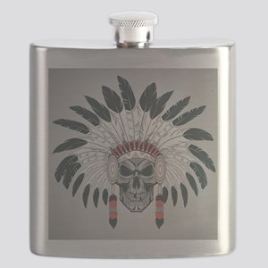 Indian Skull Flask