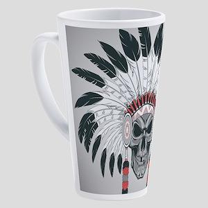 Indian Skull 17 oz Latte Mug
