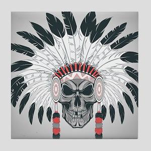 Indian Skull Tile Coaster