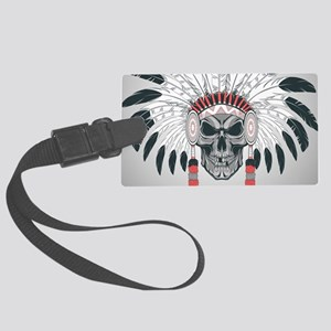 Indian Skull Large Luggage Tag