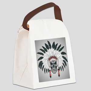 Indian Skull Canvas Lunch Bag
