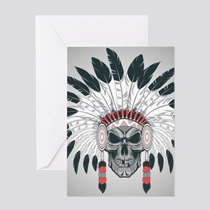 Indian Skull Greeting Card