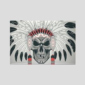 Indian Skull Rectangle Magnet