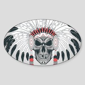 Indian Skull Sticker (Oval)