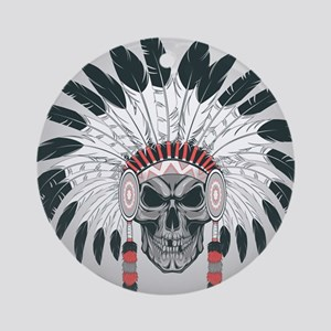 Indian Skull Round Ornament