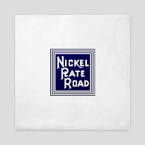 Nickel Plate Railroad logo Queen Duvet