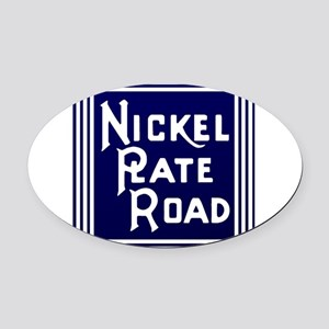 Nickel Plate Railroad logo Oval Car Magnet