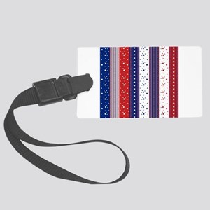 Patriotic Strs & Stripes Abstrac Large Luggage Tag