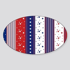 Patriotic Strs & Stripes Abstract American Sticker