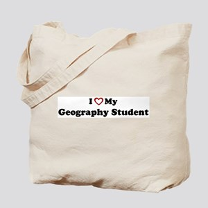 I Love My Geography Student Tote Bag