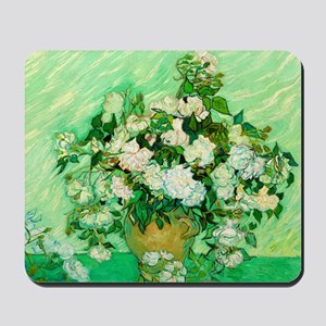 Roses by Vincent van Gogh Mousepad