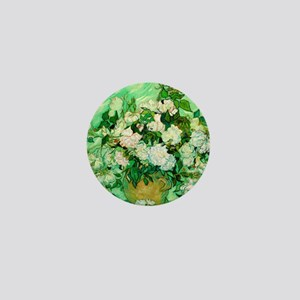 Roses by Vincent van Gogh Mini Button