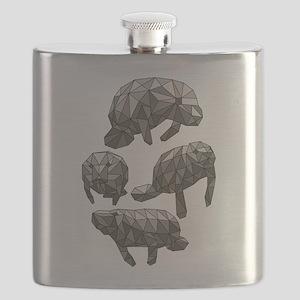 Geometric Manatee Flask