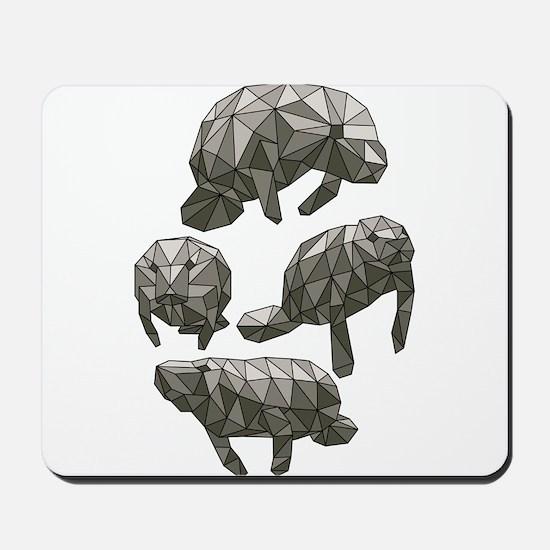Geometric Manatee Mousepad