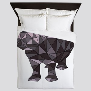 Geometric Hippo Queen Duvet
