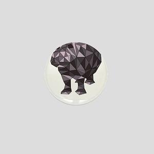 Geometric Hippo Mini Button