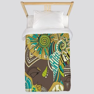 African Woman Twin Duvet