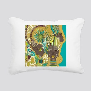 African Woman Rectangular Canvas Pillow