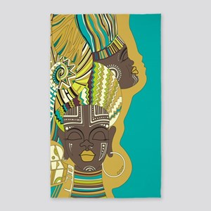 African Woman Area Rug