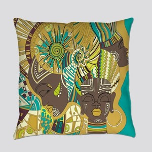 African Woman Everyday Pillow