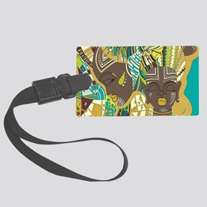 African Woman Large Luggage Tag