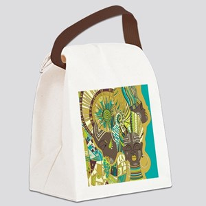 African Woman Canvas Lunch Bag