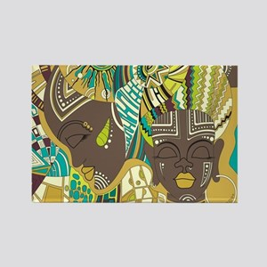 African Woman Rectangle Magnet