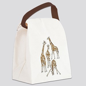 Geometric Kangaroo Canvas Lunch Bag