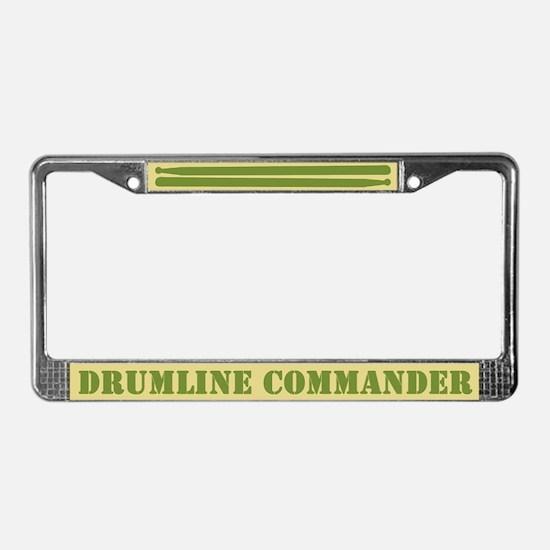 Drumline Commander License Plate Frame