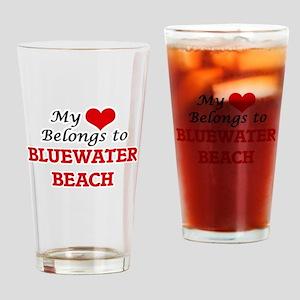 My Heart Belongs to Bluewater Beach Drinking Glass