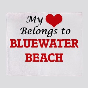 My Heart Belongs to Bluewater Beach Throw Blanket