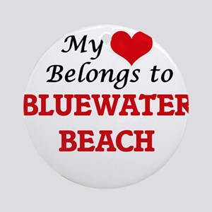 My Heart Belongs to Bluewater Beach Round Ornament
