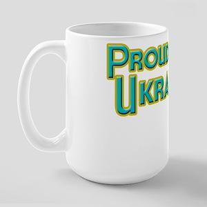 Proud To Be Ukranian Large Mug