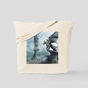 Tower Dragons Tote Bag
