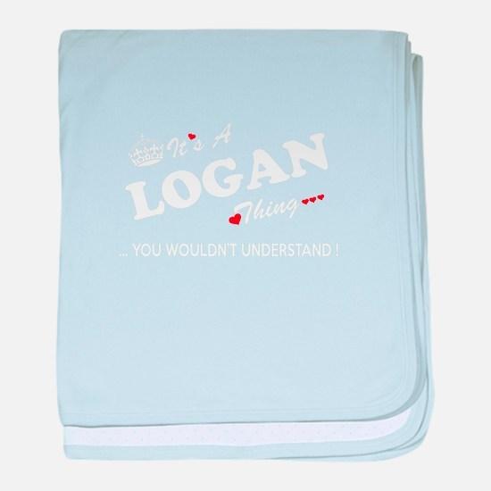 Cute Logan baby blanket