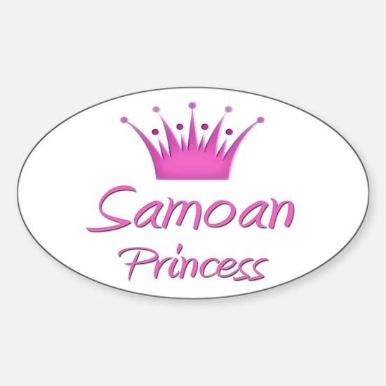 Samoan Princess Oval Decal