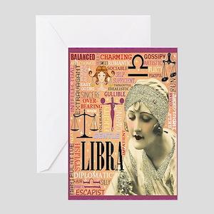 Libra Card Greeting Cards