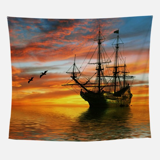 Pirate Ship Wall Tapestry