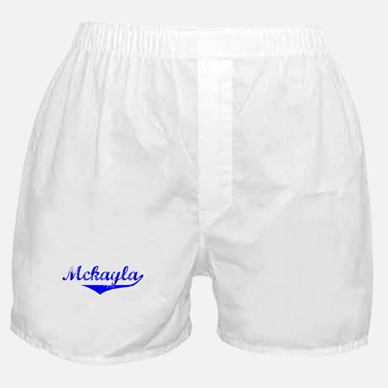 Mckayla Vintage (Blue) Boxer Shorts