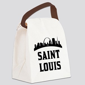 Saint Louis MO Skyline Canvas Lunch Bag