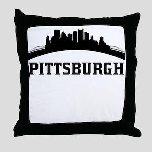 Pittsburgh PA Skyline Throw Pillow