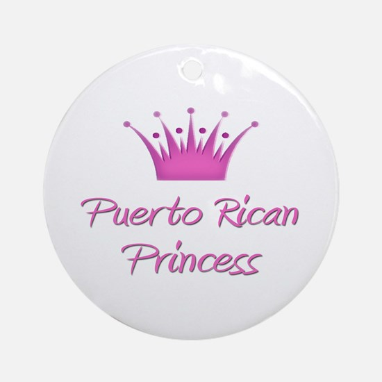 Puerto Rican Princess Ornament (Round)