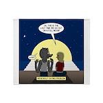 Werewolf Dating Problem Throw Blanket