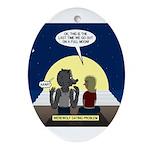 Werewolf Dating Problem Oval Ornament