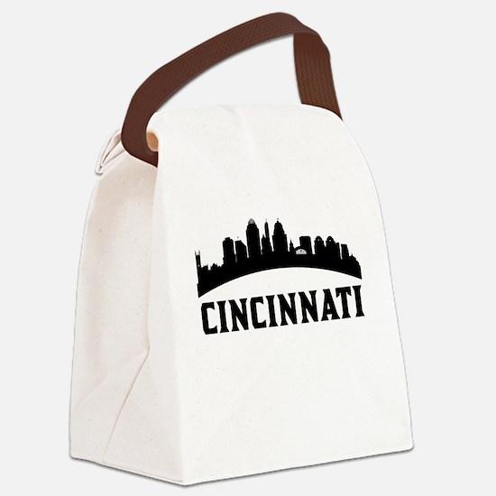 Cincinnati OH Skyline Canvas Lunch Bag