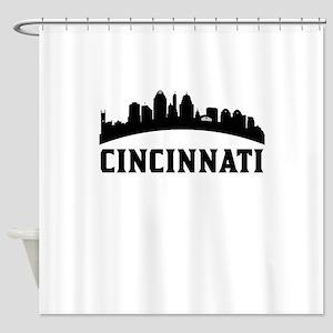 Cincinnati OH Skyline Shower Curtain