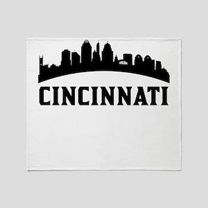 Cincinnati OH Skyline Throw Blanket