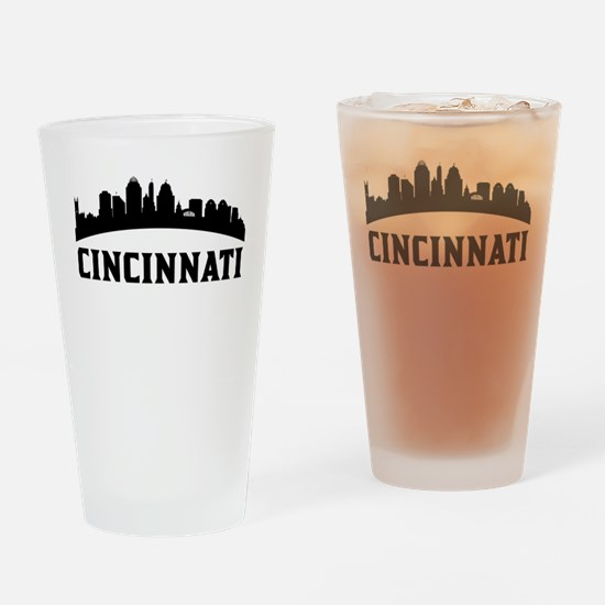 Cincinnati OH Skyline Drinking Glass